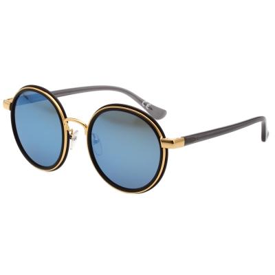 Calvin Klein- 水銀藍 復古圓面 太陽眼鏡(黑色)CK1227SK
