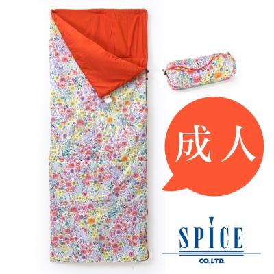 【SPICE】信封式 成人印花 防水 可拼接 睡袋 -  花朵