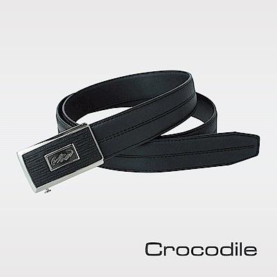Crocodile 紳士進口真皮自動穿扣皮帶 0101-42018-01