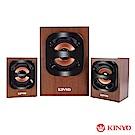 KINYO 2.1聲道多功能木質喇叭(KY-1702)