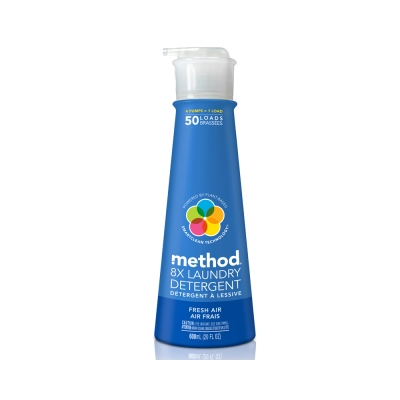 Method 美則 八倍濃縮智慧環保洗衣精600ml-清新