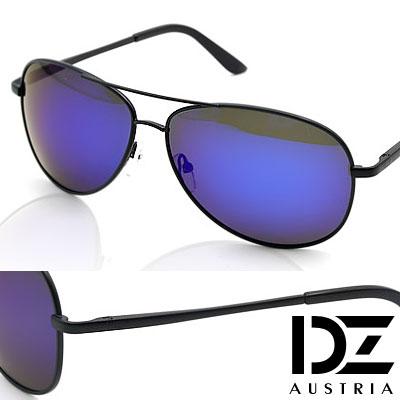 DZ 克雷孟特 抗UV 偏光太陽眼鏡墨鏡(黑框深藍膜)