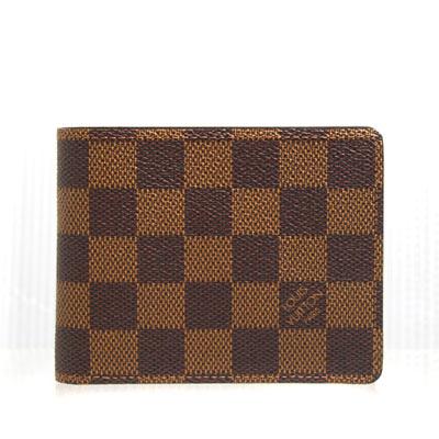 LV N60895 棋盤格雙折短夾