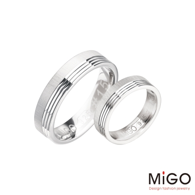 MiGO 永恆純銀成對戒指