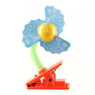 Lucky Baby 可夾式LED安全電風扇-泡泡藍