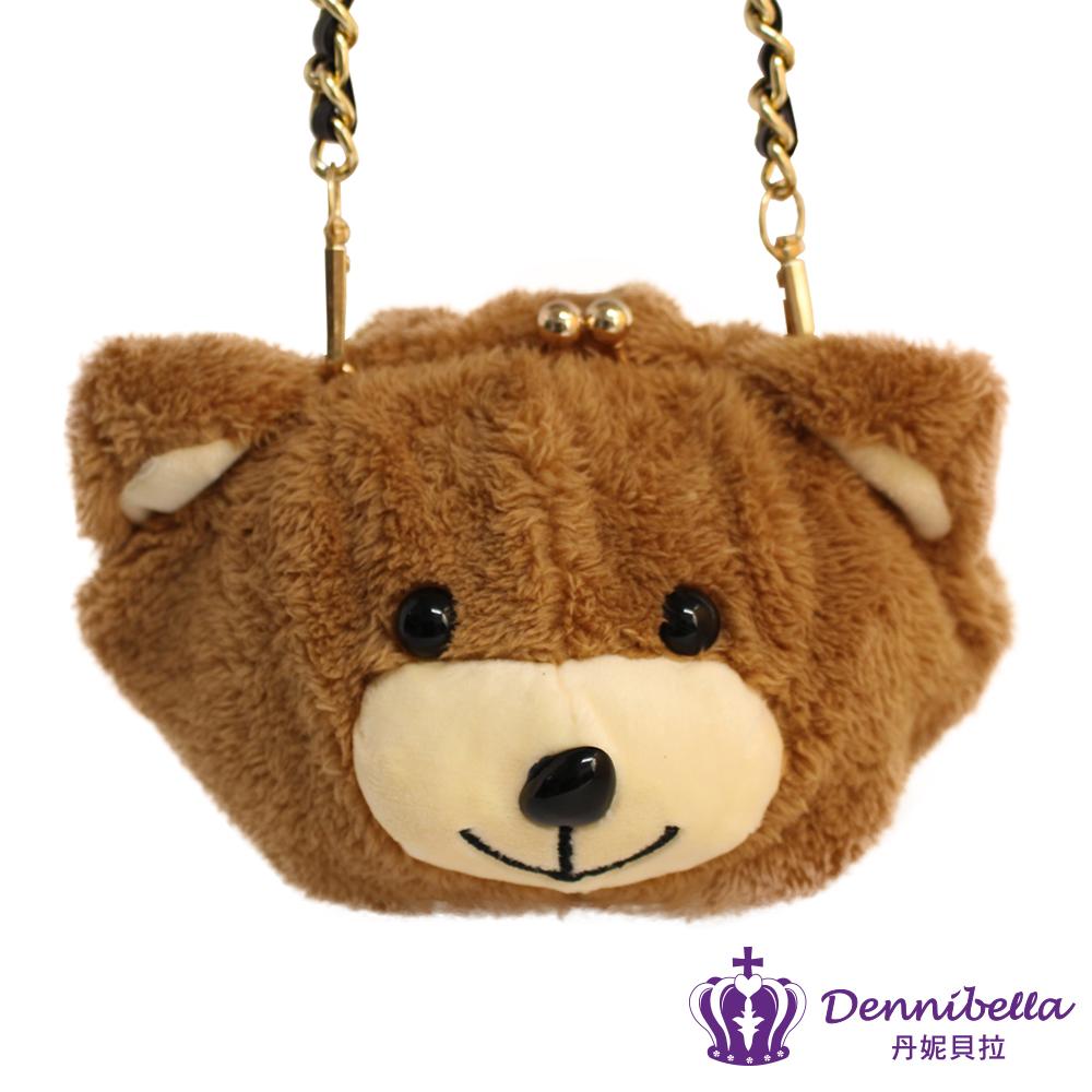 Dennibella 丹妮貝拉 -歐美流行-毛茸茸小熊頭斜背包
