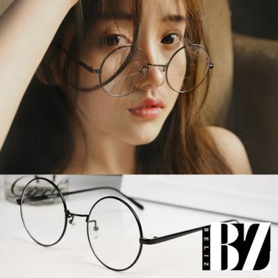 BeLiz 透視真理 圓框細黑平光眼鏡