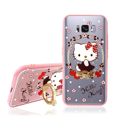 Hello Kitty Samsung Galaxy S8 指環扣支架手機殼(蘋...