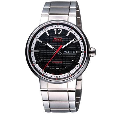 MIDO Great Wall 天文台認證長城系列機械腕錶-黑/42mm M0156311105700