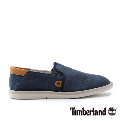 Timberland-男款海軍藍素面雙邊鬆緊便鞋