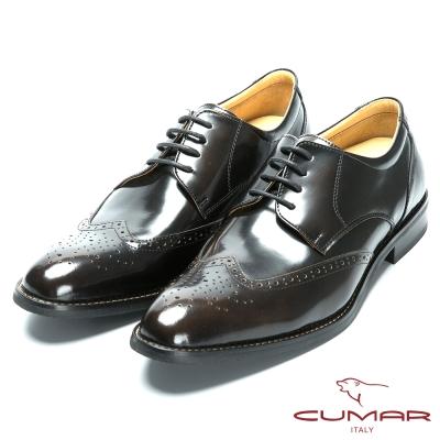 CUMAR 核心氣墊專利 - 英式牛津款皮鞋-古銅