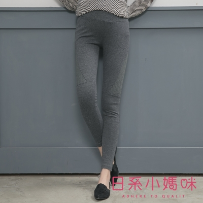 日系小媽咪孕婦裝-孕婦褲-顯瘦側條紋內搭褲-M-L-共二色