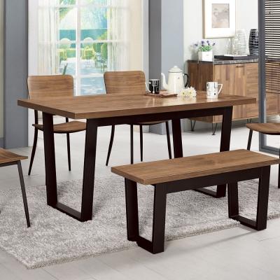 Bernice-吉林頓4.3尺工業風餐桌(兩色可選)-130x80x75cm