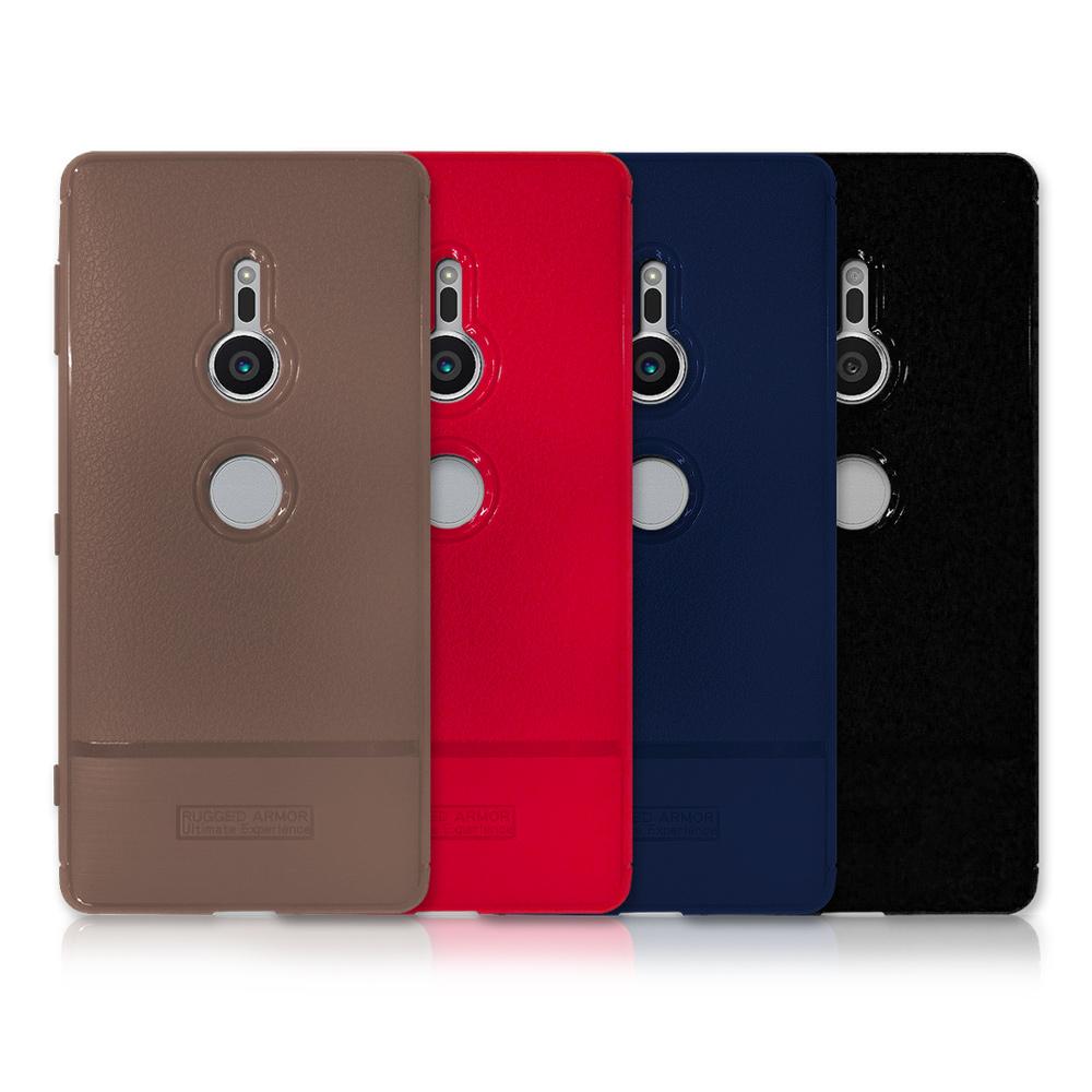 VXTRA Sony Xperia XZ2 防滑手感皮紋 軟性手機殼