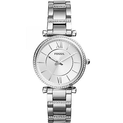 FOSSIL 羅馬晶鑽魅力時尚女錶(ES4341)-35mm