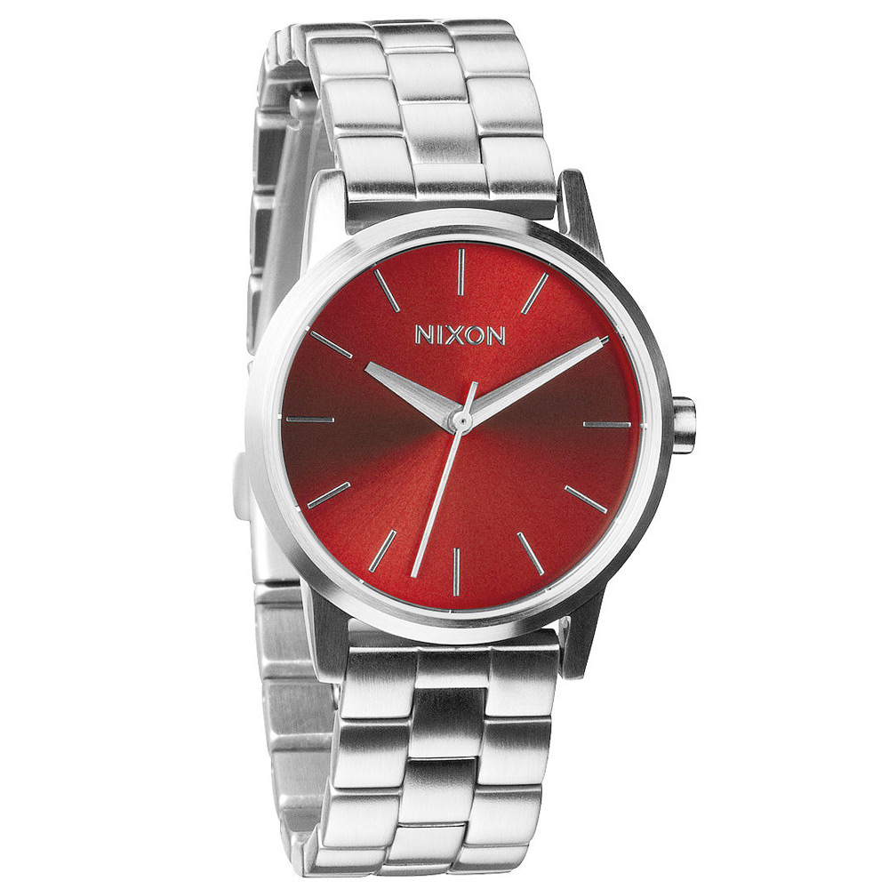NIXON kensington 極簡現代時尚腕錶-紅/32mm