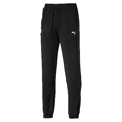 PUMA-男性法拉利車迷系列棉質長褲-黑色-歐規