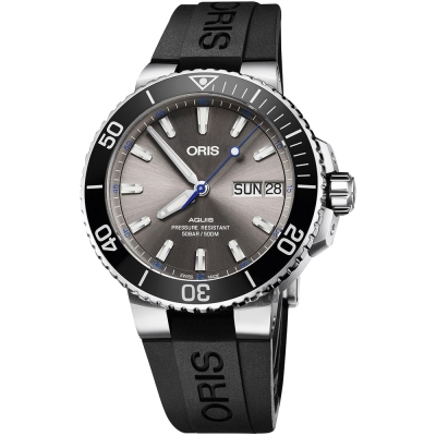 ORIS豪利時 AQUIS Hammerhead 限量機械錶-灰x黑/45.5mm