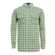 【hilltop山頂鳥】男款抗UV吸濕快乾長袖襯衫S05M53-綠/白格子 product thumbnail 1