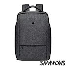 SAMMONS史蒂夫筆電商務雙層後背包 都會灰