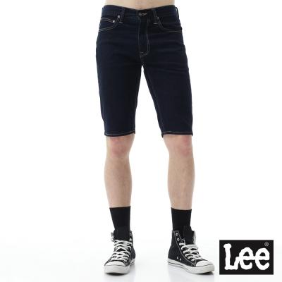 Lee 牛仔素面短褲/RG-男款-深藍