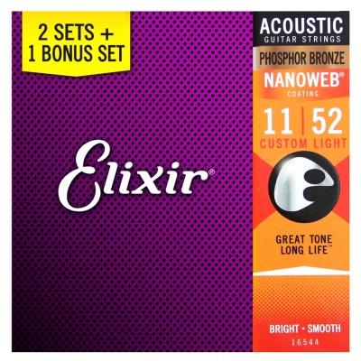 ELIXIR EXXF-16544 民謠木吉他套弦三包裝