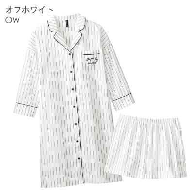 aimerfeel 時尚直細紋連身成套睡衣