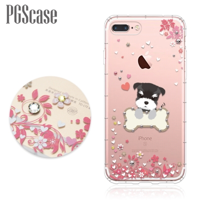 PGS iPhone8/7 Plus 5.5吋奧地利彩鑽防摔手機殼-俏皮小Q