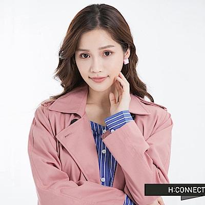 H:CONNECT 韓國品牌 蜜糖蛋白霜耳環-粉