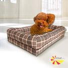 凱蕾絲帝 狂銷熱賣-寵物記憶床墊款(英倫格紋)80*50-中大型犬專用