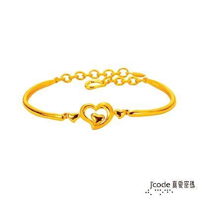 J'code真愛密碼 心相許黃金手環