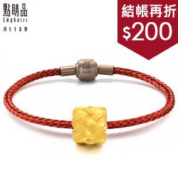 福氣長壽繩黃金串珠