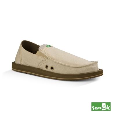 SANUK 口袋TX系列帆布懶人鞋-男款(米色)