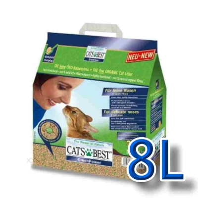 美國凱優CAT'S BEST《強效凝結除臭木屑砂》8L