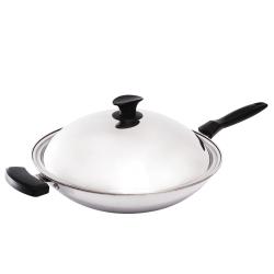清水 鋼鋼好原味炒鍋36cm(單把)