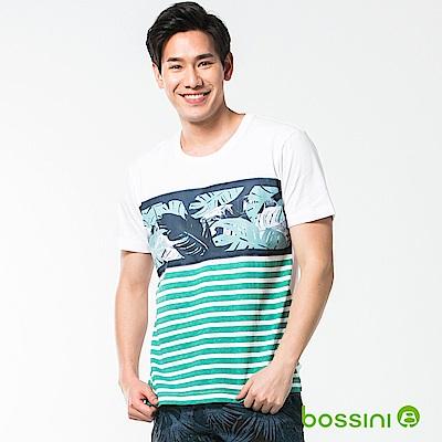 bossini男裝-圓領短袖T恤11白