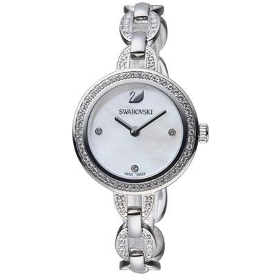 SWAROVSKI 施華洛世奇 璀璨光輝鍊式腕錶-銀色/28mm
