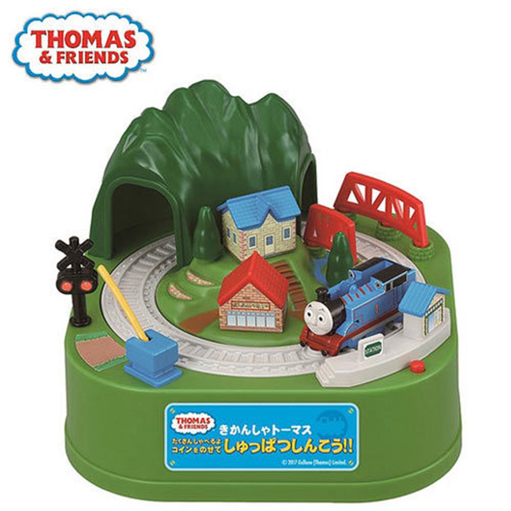 日本正版 THOMAS 湯瑪士小火車 儲金箱/存錢筒/電動存錢筒/小費箱 SHINE