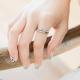 時尚簡約單排小鑲鑽戒指-ZARATA