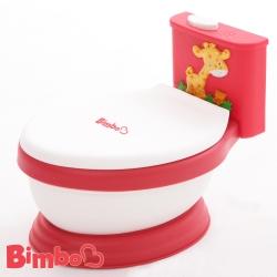 專利兒童音樂馬桶 紅色 台灣製造【BIMBO】