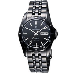 Olympianus 奧柏經典風尚機械腕錶-IP黑/38mm