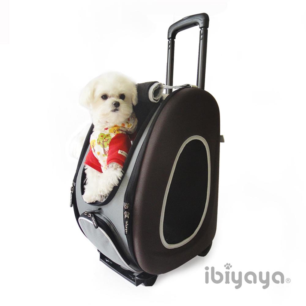 IBIYAYA依比呀呀 FC1008五彩繽紛寵物拉桿後背包-咖啡