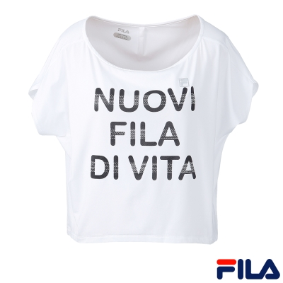 FILA女短袖T恤-白色-5TEQ-5305-WT