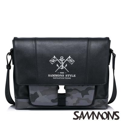 SAMMONS 歐風加勒比海斜背包 百搭黑
