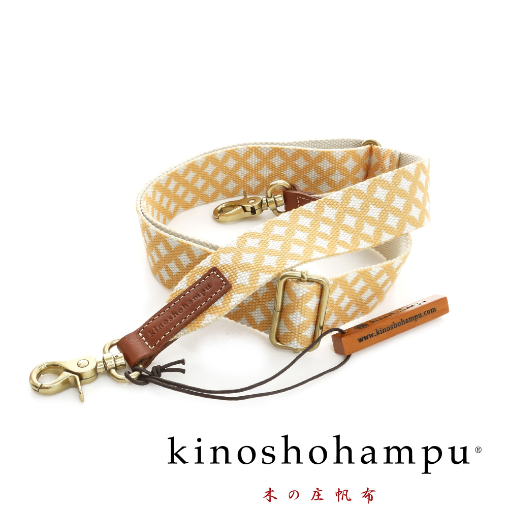 kinoshohampu 日本貴族和柄背帶 七寶紋黃