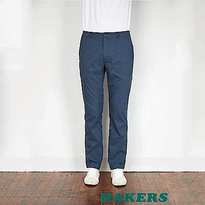 【HAKERS】男-彈性快乾休閒長褲-灰藍
