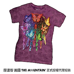 摩達客 美國進口The Mountain 彩蝶捕夢網短袖女版T恤
