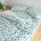 絲薇諾 MIT精梳純棉 仙人掌海洋 雙人四件式-薄床包鋪棉被套組