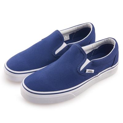 (女)VANS Classic Slip-On 潮流素色休閒懶人鞋*藍色