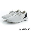HANNFORT ICE網布拼接運動休閒鞋-女-率性白